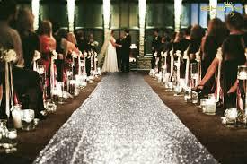 Glitter Wedding Aisle Runner