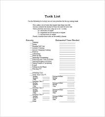 Project Task List Template 10 Free Word Excel Pdf Format