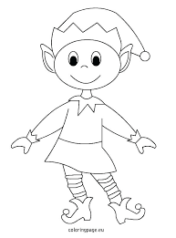 Coloring Pages Christmas Elf Coloring Pages Free Printable Elves