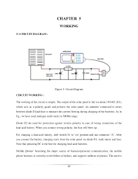 solar mobile charger report 15 16 chapter 5 working 5 1 circuit diagram