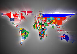 World Map Posters Flag World Map Art Print Poster Sizes A4 A3 A2 A1 00401