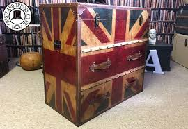 Union Jack Trunk - 2 Drawers