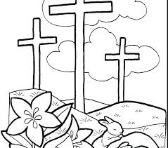 Preschool Coloring Pages Easter Religious Coloring Pages For Free