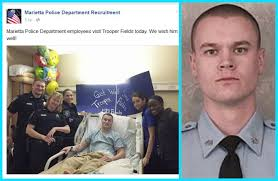 Trooper Jacob Fields recuperating in hospital