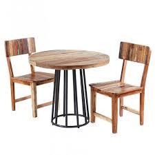 coastal reclaimed wood round dining set