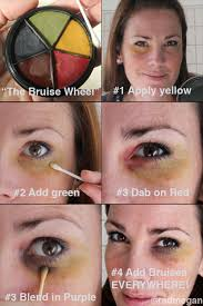 here are the application steps i used to give myself a black eye the painless way