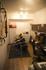 Once the floor was down it was then a case of turning it into a proper room  - so it became my music studio / office so all that soundproofing became  very ...