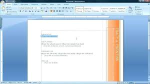2007 Word Resume Template Resume Template Microsoft Word 2007 Mmventures Co