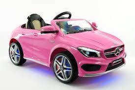 Mercedes CLA45 AMG 12V Kids Ride-On Car with Parental Remote Pink ...