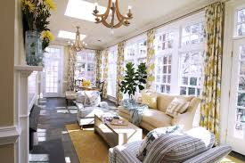 contemporary sunroom furniture. Chic Drapery Fabric Ideas For Your Sweet Home: Exciting Contemporary Sunroom Design With Furniture