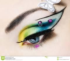 eye close up with beautiful make up