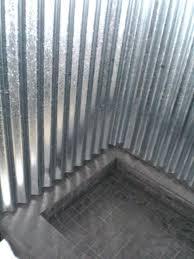 metal shower walls corrugated sheet metal shower walls