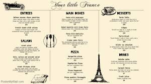 french menu template cream french bistro menu template postermywall