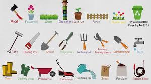 garden equipment. Plain Garden Kids Vocabulary  Gardening Tools For  Garden  Inside Equipment R