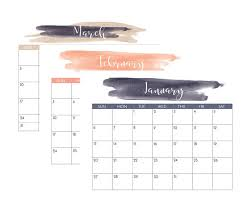 Print Out Calendar Navy And Blush 2019 Printable Calendar Crafting In The Rain