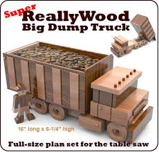 super reallywood big dump truck full size wood toy plan set
