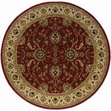 oriental weavers ariana 8 round machine woven rug in red
