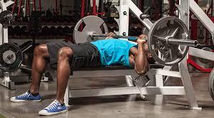 Football Strength Training  Fat Bar Bench Press W 80lbs Chains Strength Training Bench Press