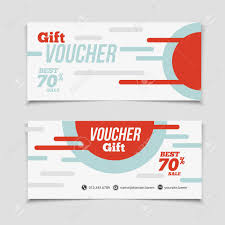 coupon design abstract gift voucher or coupon design template voucher design