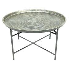 round wood and metal end table round metal end tables large size of living room dark round wood and metal end table