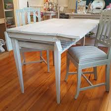 Swedish Drop Leaf Kitchen Table With Built In Shelf Swedish Antique White 1800s 20 51cm Wings Down 35 89cmwid Wings Up 3925 100cm Long