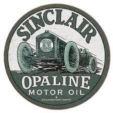 sinclair opaline motor oil vine auto racing round tin sign garage decor 2169 ebay