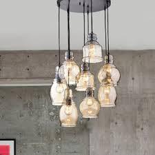 pendant bulb lighting. perfect bulb mariana cognac glass cluster 8light cascade pendant intended bulb lighting