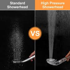 Ikalula Duschkopf Handbrause Wassersparend Mit Druckerhöhung Für Mehr Wasserdruck Duschkopf Regendusche Filtration Handbrause 4 Strahlarten