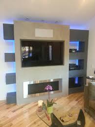great oak circle entertainment center contemporary living room