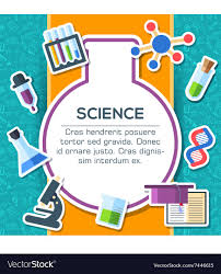 Science Poster Background Back To School Elements On Blue Background Poster
