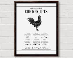 Butcher Print Chicken Cuts Print Butchers Chart Chicken