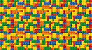 lego style building bricks wall mural