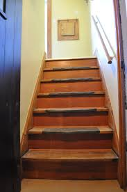 Carri Us Home Back Hallway Redo - Painted basement stairs