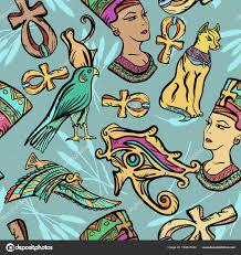 древний египет искусство шаблон классическая флэш тату векторное