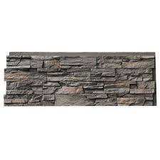T Country Ledgestone 435 In X 155 In Faux Stone Siding Panel  Appalachian Gray