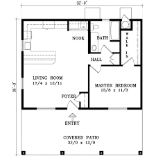 1 bedroom house plans. Cabin Style House Plan - 1 Beds Baths 768 Sq/Ft #1 Bedroom Plans B