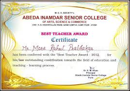 Best Teacher Certificate Templates Free Template Summer Camp Certificate Template Best Teacher Award Maker