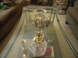 vintage lamplight farms kerosene lamp clear glass base for