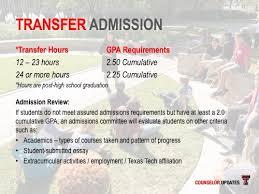 presentation undergraduate admissions ttu 35