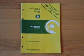 Details About John Deere Maxemerge 2 Vacuum Metering Unit Operator Manual