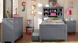 bedroom furniture for teenagers. Cottage Colors Gray 5 Pc Full Bookcase Bedroom Furniture For Teenagers M