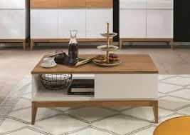 modern white gloss oak coffee table