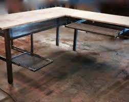 industrial home office desk. L Desk, Shaped Modern Industrial Computer Handmade, Home Office Desk