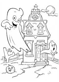 Small Picture A Haunted House in Funschool Halloween Coloring Page NetArt