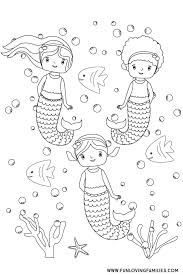 This collection has 12+ mermaid coloring sheets for adults, teens, and kids. 6 Cute Mermaid Coloring Pages For Kids Free Printables Fun Loving Families