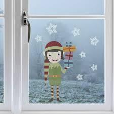 Weihnachtsdeko Fensterbild Weihnachthself Ein