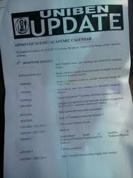resume When Is Uniben Resuming uniben amended new academic calendar for  20162017 is out full calendar