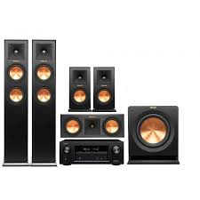 klipsch home theatre. klipsch system 5 with denon avr-x2400h - home theater theatre e