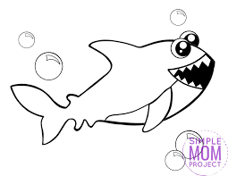 Click on one of the images below to full hd size picture to print. Free Printable Shark Coloring Page Simple Mom Project