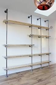 wesley scaffolding board and steel pipe shelving by urban
